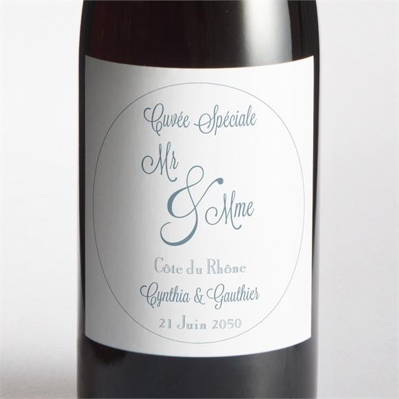 Etiquette de bouteille mariage Mr & Mme réf.N300685