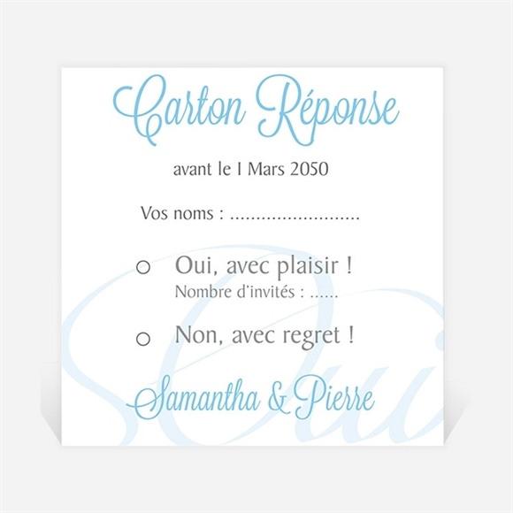 Carton réponse mariage L'union réf.N300678