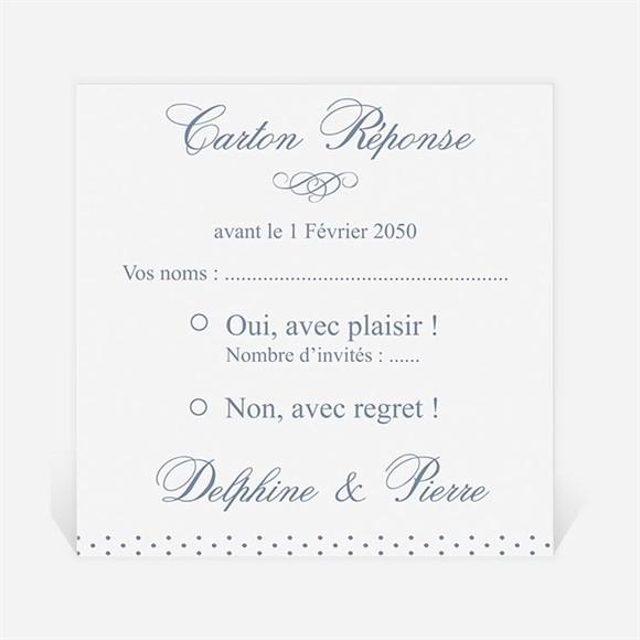 Carton réponse mariage Origami original réf.N300696