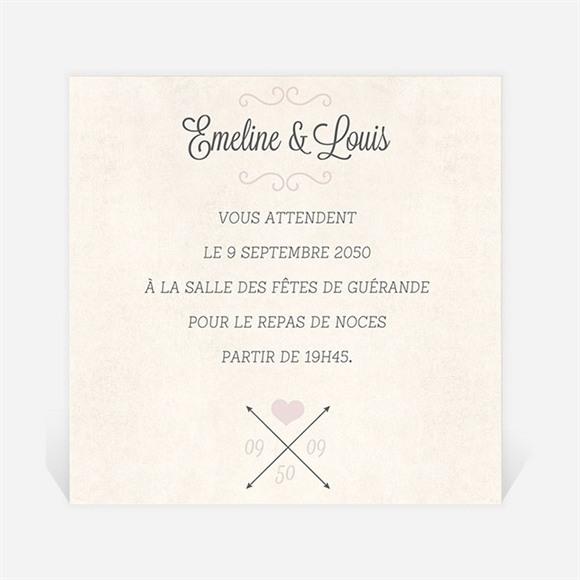 Carton d'invitation mariage Multi facettes réf.N300701