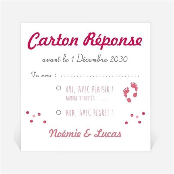 Carton réponse mariage Un air de Vacances réf.N300708