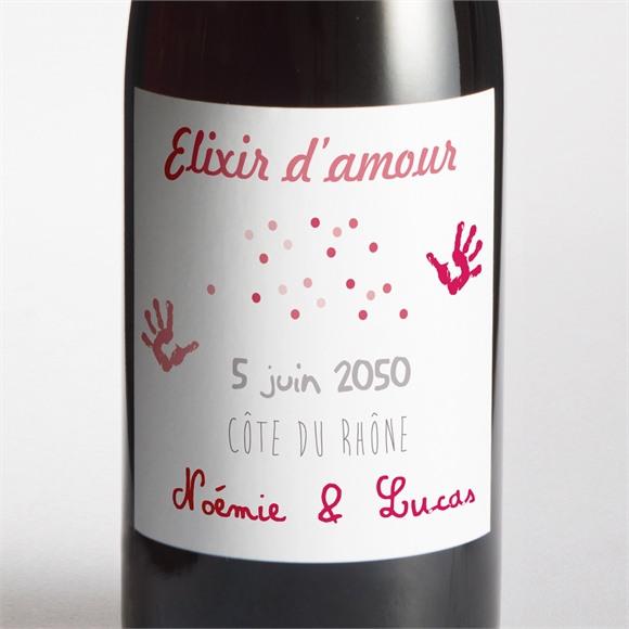 Etiquette de bouteille mariage Un air de Vacances réf.N300709
