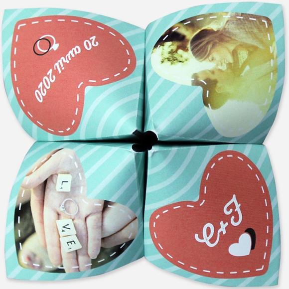 Faire-part mariage Coeurs roses photo réf.N33007