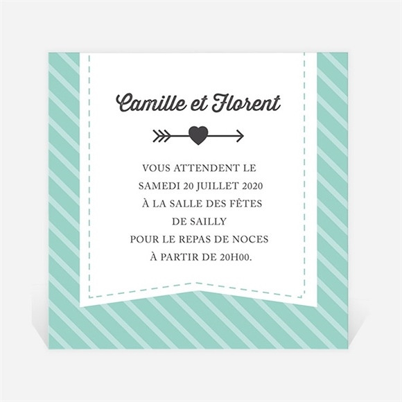 Carton d'invitation mariage Coeurs roses photo réf.N300704