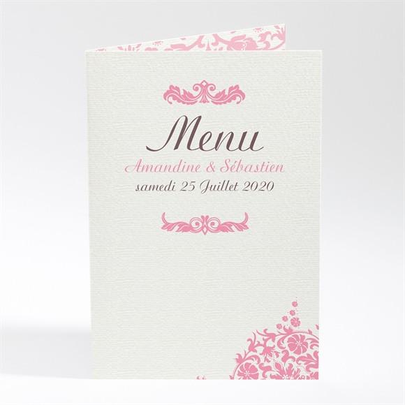 Menu mariage Motifs baroques réf.N401554