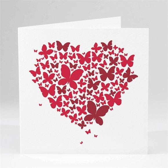 Faire-part mariage Papillons en coeur réf.N45123