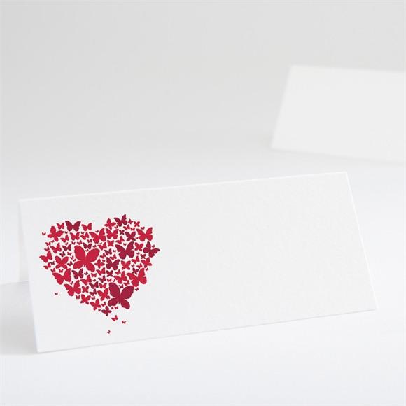 Marque-place mariage Papillons en coeur réf.N440437