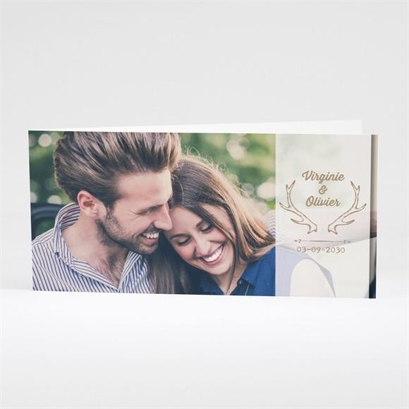 Faire-part mariage Le Cerf réf.N43143