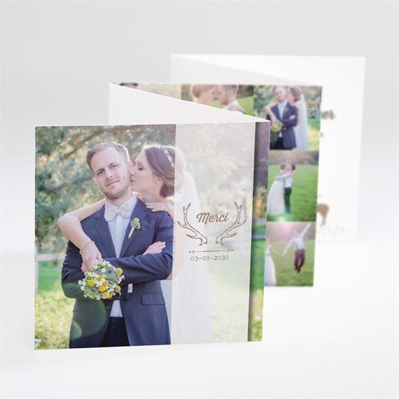 Remerciement mariage Le Cerf réf.N80075