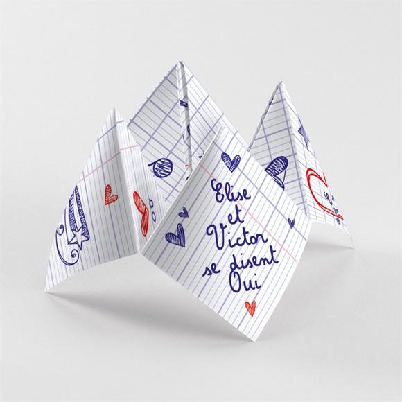 Faire-part mariage Les écoliers réf.N33010