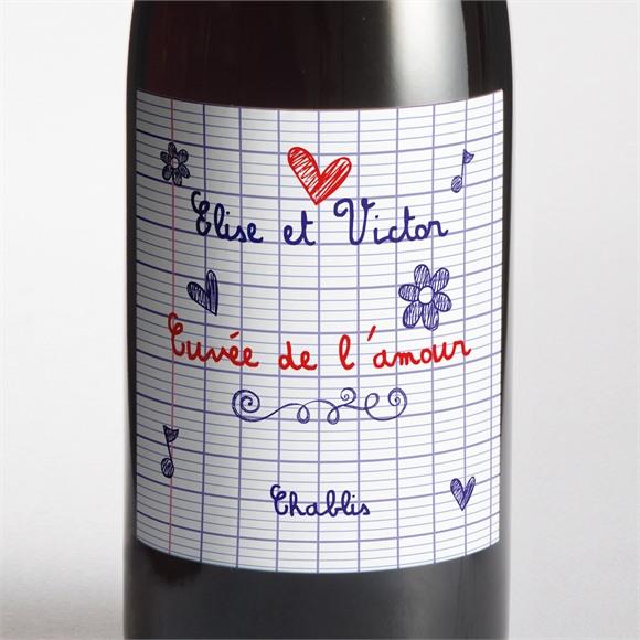 Etiquette de bouteille mariage Les écoliers réf.N300727