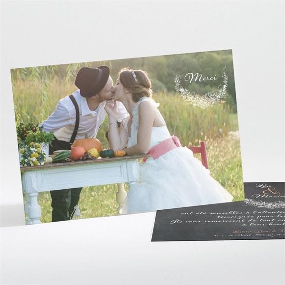 Remerciement mariage Ardoise ronde réf.N11175