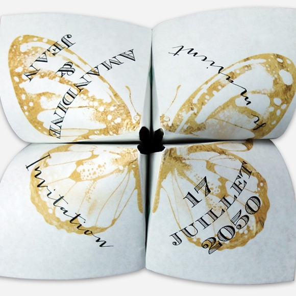 Faire-part mariage Papillon original réf.N33011