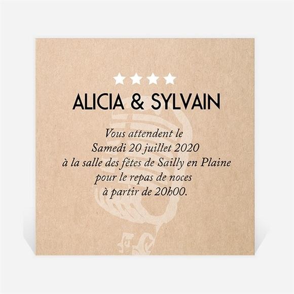 Carton d'invitation mariage Notre Mélodie réf.N300731