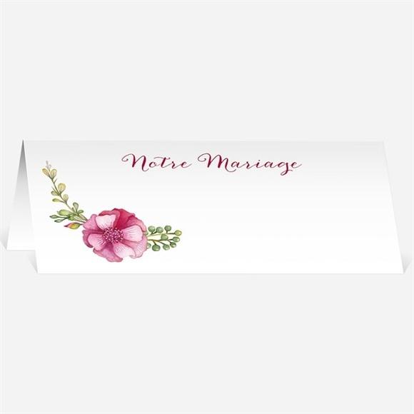 Marque-place mariage Belle romance réf.N440444