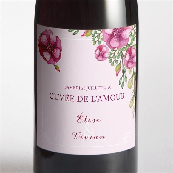 Etiquette de bouteille mariage Belle romance réf.N300736