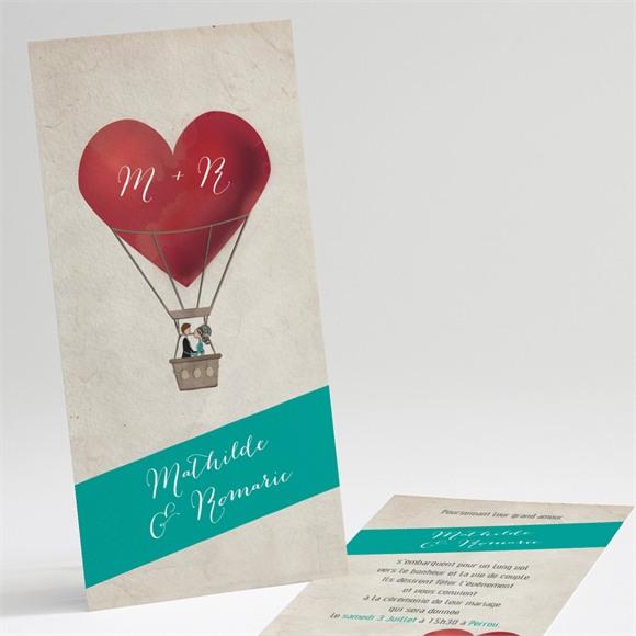 Faire-part mariage Mongolfiere vintage réf.N22138