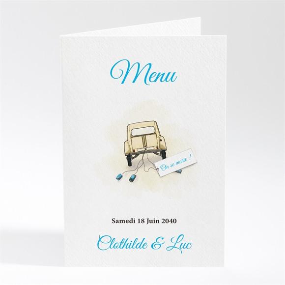 Menu mariage La 2Cv du Bonheur réf.N401563