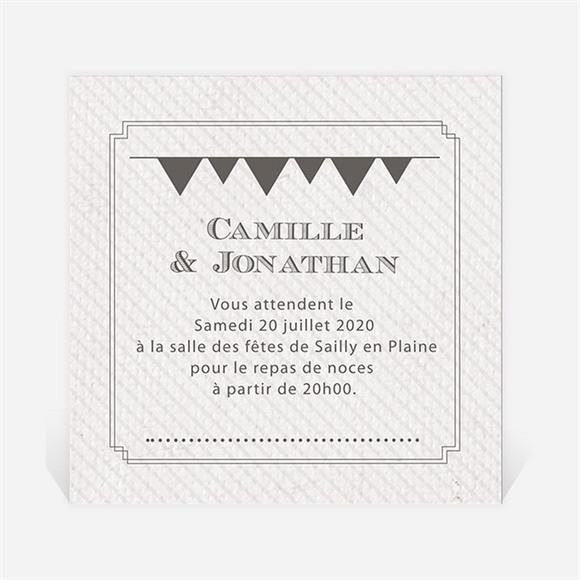 Carton d'invitation mariage Photo couleurs vintage réf.N300746