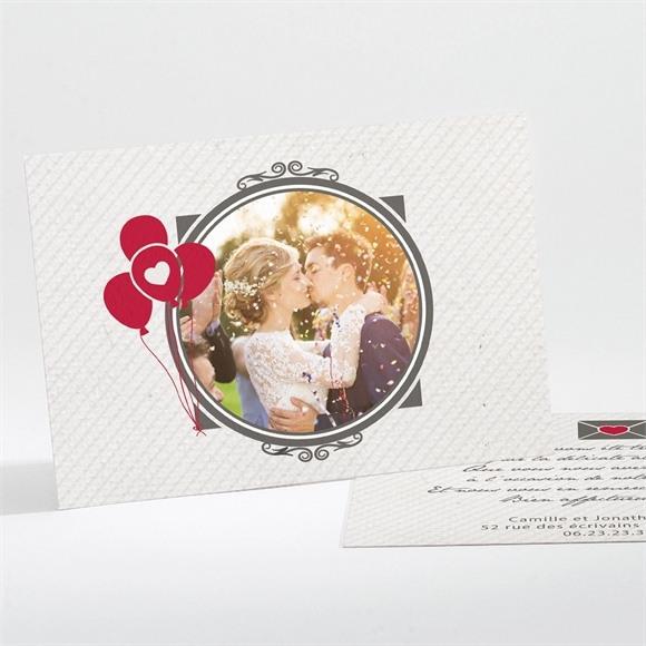 Remerciement mariage Photo couleurs vintage réf.N11179
