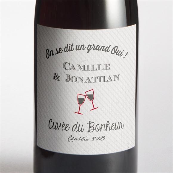 Etiquette de bouteille mariage Photo couleurs vintage réf.N300748