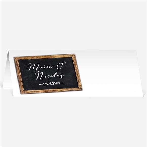 Marque-place mariage A la craie A jamais réf.N440452