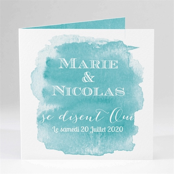 Faire-part mariage Touche d'aquarelle réf.N45129