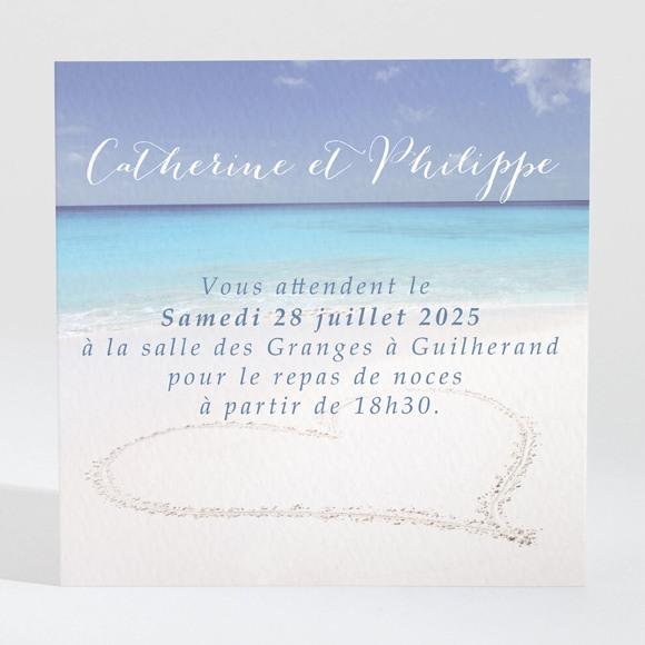 Carton d'invitation mariage Sur le sable réf.N300749
