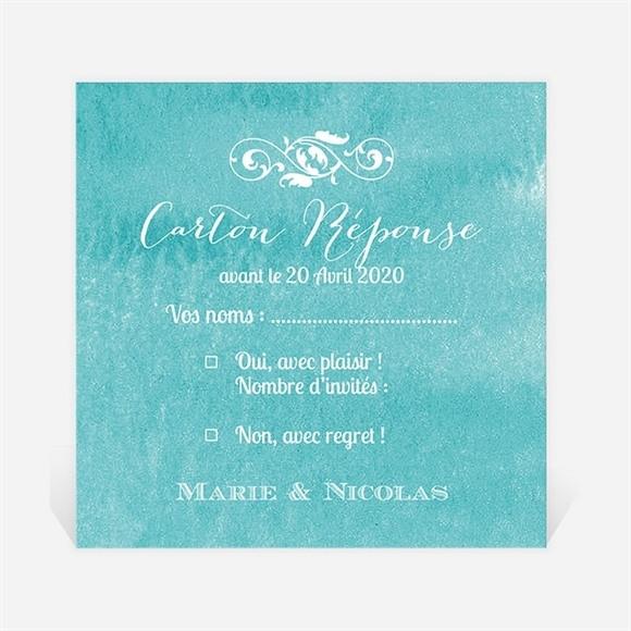 Carton réponse mariage Touche d'aquarelle réf.N300759
