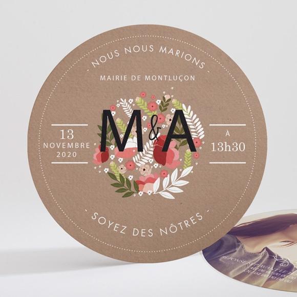 Faire-part mariage Esprit campagne chic réf.N32176