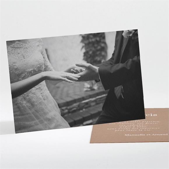 Remerciement mariage Esprit campagne chic réf.N11182