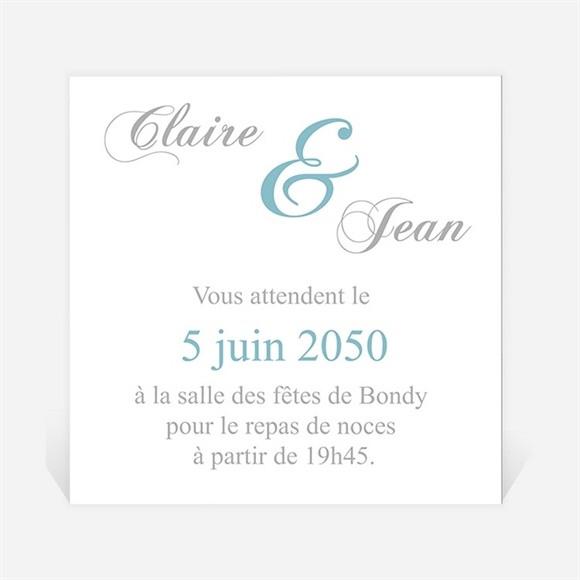 Carton d'invitation mariage L'élégance en photos réf.N300764