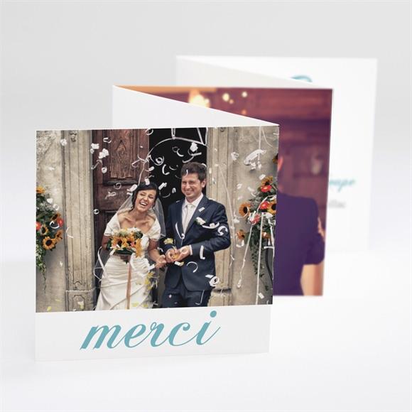 Remerciement mariage L'élégance en photos réf.N80082