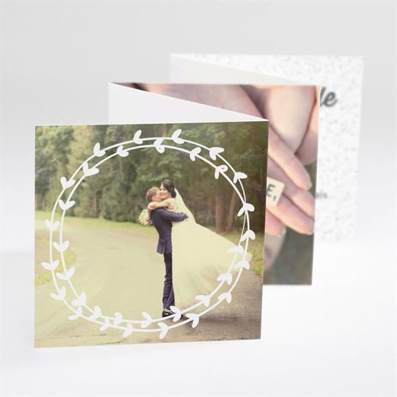 Remerciement mariage Gravure blanche originale réf.N80083