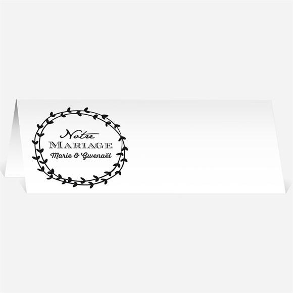 Marque-place mariage Gravure blanche originale réf.N440457