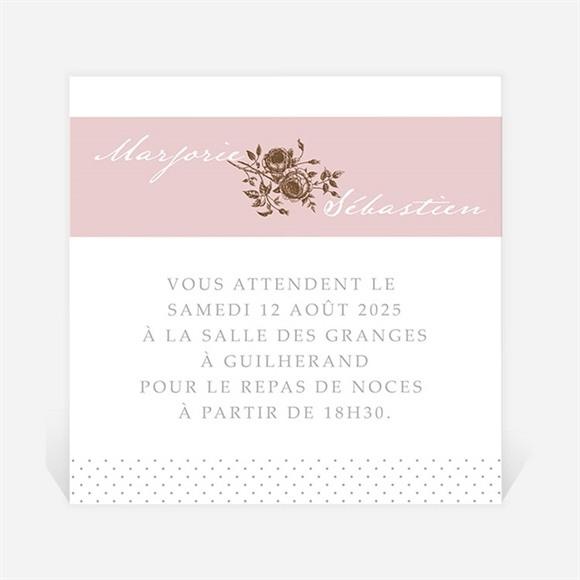 Carton d'invitation mariage Annonce classique réf.N300767