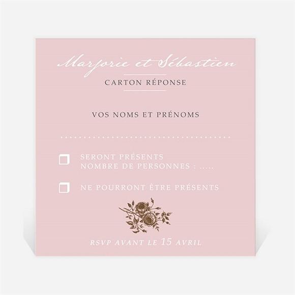 Carton réponse mariage Annonce classique réf.N300768