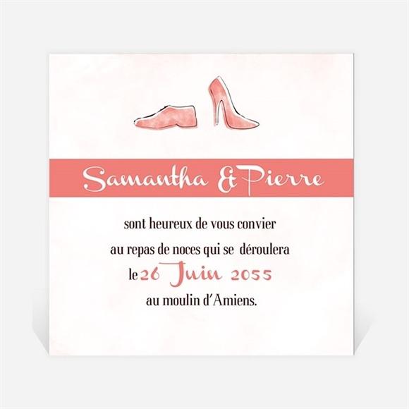 Carton d'invitation mariage Elle & Lui réf.N300773
