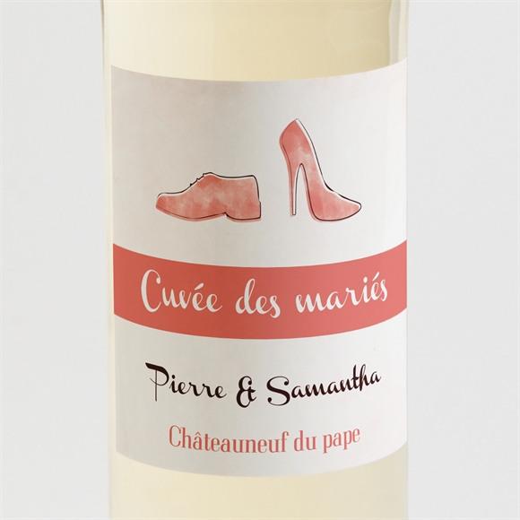 Etiquette de bouteille mariage Elle & Lui réf.N300775
