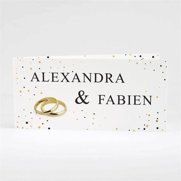 Faire-part mariage Alliances scintillantes réf.N43144