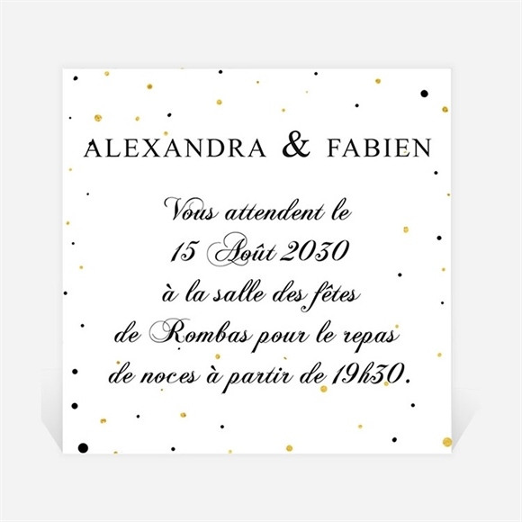 Carton d'invitation mariage Alliances scintillantes réf.N300776
