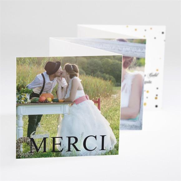 Remerciement mariage Alliances scintillantes réf.N80085