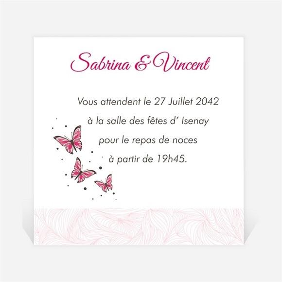 Carton d'invitation mariage Notre Métamorphose réf.N300779