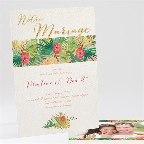 Faire-part mariage Nos Tropiques réf.N241108