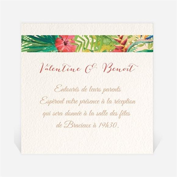 Carton d'invitation mariage Nos Tropiques réf.N300785