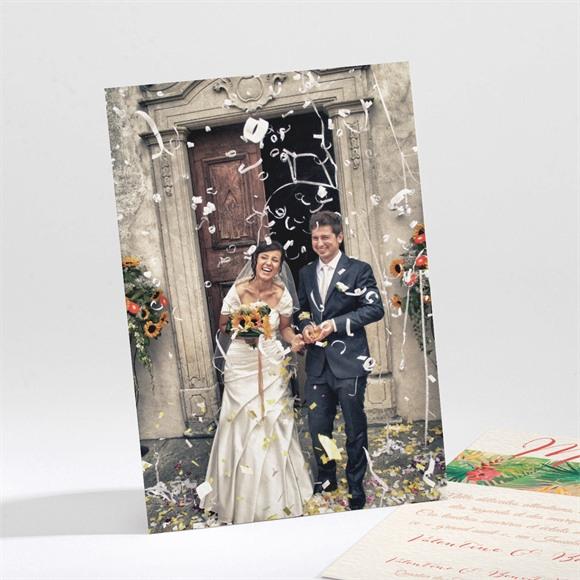 Remerciement mariage Nos Tropiques réf.N21194