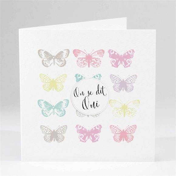 Faire-part mariage Papillons de couleurs réf.N45136