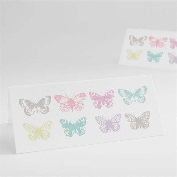 Marque-place mariage Papillons de couleurs réf.N440464
