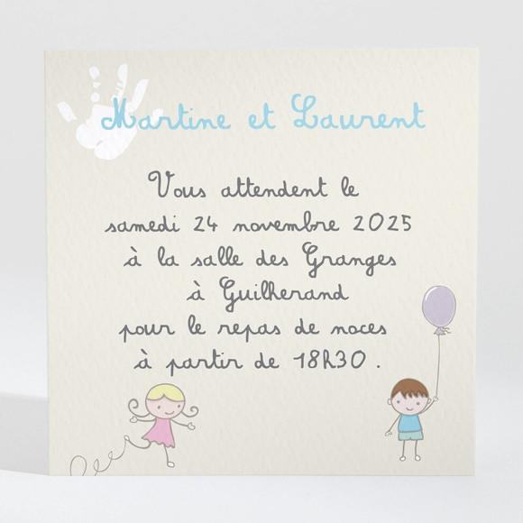 Carton d'invitation mariage Pas trop tôt... réf.N300798
