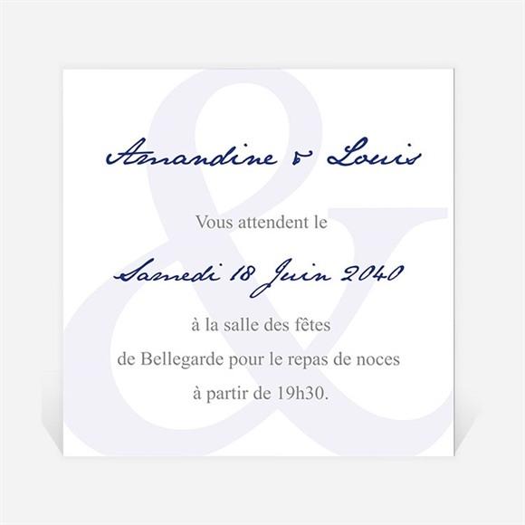 Carton d'invitation mariage In love réf.N300801